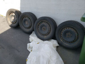 Steel rims/tires will fit Ford Focus/Fusion 5x108 bolt pattern
