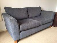 Three Seater Fabric Sofa - Slate Grey