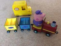 Peppa Pig Grandpa's train & van