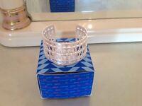 Stella & Dot Plait Cuff Bracelet ~ Silver RRP £60 BNIB