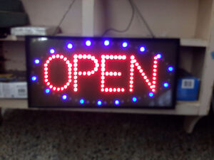 ATTRACTIVE OPEN LIGHTNING SIGN  SUPERB CONDITION  $40.00