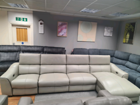 Brand new Genuine Leather Corner sofa power recliner