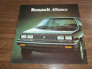 BROCHURE AUTO RENAULT ALLIANCE  ( 1984 )
