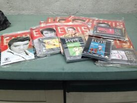 Selection of Elvis Presley Official Collectors Edition Magazine with 5 sealed Elvis Movie
