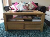 Next solid oak TV cabinet