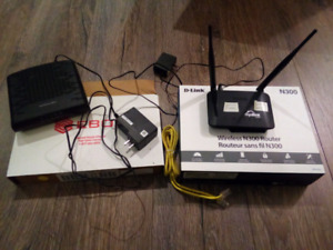 Modem Ebox and Router D-Link