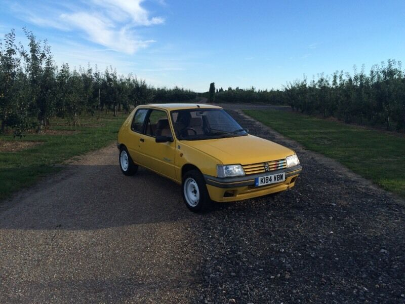 peugeot 205 rallye yellow in canterbury kent gumtree. Black Bedroom Furniture Sets. Home Design Ideas