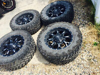 "20"" Fuel Off Road KRANK Black Nitto Trail Grappler 35x12.50R20"