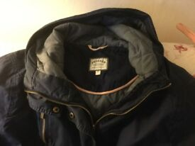 Ladies navy Fatface coat size 18