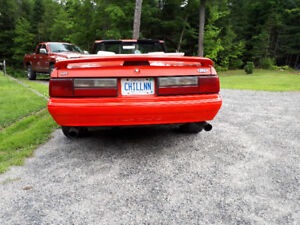 92 ford mustang  l x 5 litre convertible