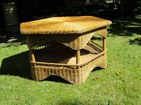 Rattan coffee table - size 35 inches diameter/19 inches high