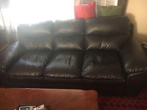 Set of 3 Leather Sofas *Like New* Regina Regina Area image 1