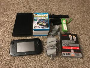 Wii U Console, Gamepad, 9 Games, Yoshi Wiimote and Cords!