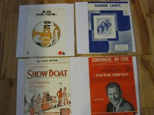 Vintage sheet music for serious collectors
