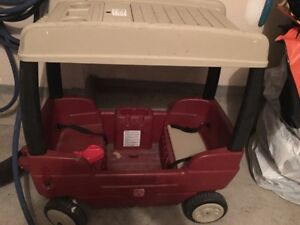 Red First Steps Childs Wagon Covered