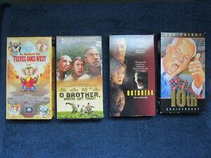 4 VHS Videos Various