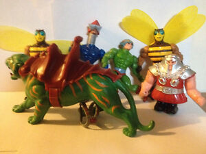 He-Man MOTU Battle cat mechaneck buzz off hammerhead man at arms