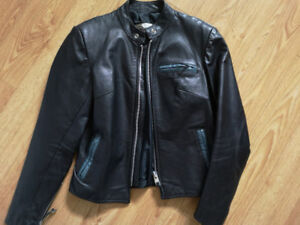 Women's black motorcycle jacket $300 or B.O.