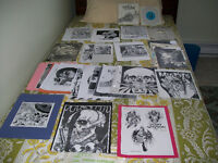 (ATTENTION = LOOK) pushead artwork = 84 pics,1 cd,1 record lot..