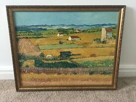 Attractive framed far / countryside painting