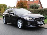 2013 Mazda 6 2.2d SPORT NAV 5DR TURBO DIESEL ESTATE ** 94,000 MILES * FULL HI...