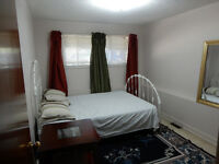 1 bed rm in a 2 bed rm Bi-Level Basmt Behind  Mkt Mall . March 1