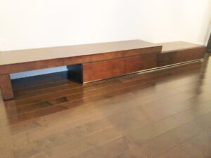 modern / contemporary TV bench in mint condition  - $600