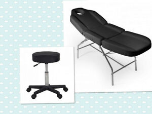 $230 Combo: salon beauté esthetique/chaise massage+tabouret roul