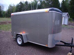 5x10 HD Enclosed Cargo Trailer Electric Brake