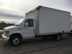 2007 Ford E-350 14 foot white cube truck, low km $13999 OBO