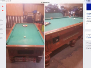 Brunswick coin pool table