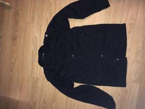 Manteau jacket Burton denim canvas tissu noir medium