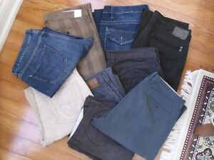 Mens jeans and khakis in size 36/38