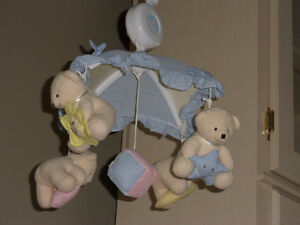 TEDDY BEAR THEMED BABY MOBILE FOR CRIB