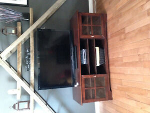 Dark brown entertainment unit