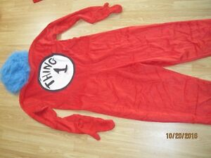 Dr. Seus Thing 1 Costume, comes with Wig and costume