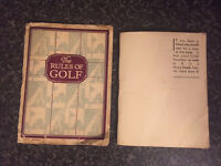 Vintage golf pamphlet and golf rules book -dates 1924- highly collectable