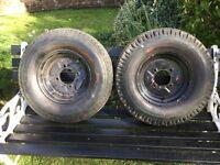 Trailer tyres.
