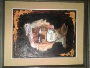 Peinture signée Renée Moreau