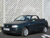 2000/W VOLKSWAGEN GOLF 1.6 SE CONVERTIBLE-SPARES OR REPAIR -OPEN TO OFFERS