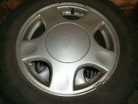 """15"""" Chev alloys and tires"""