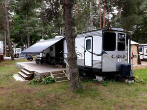 40ft Coachman Catalina at Green Acres Trailer Park, Bobcaygeon
