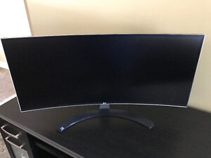 "LG 34"" IPS 3440x1440 QHD Curved 21:9 Ultrawide Computer Monitor"