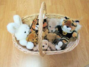 Basketful of stuffed animals