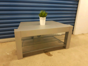 Wooden/silver TV Stand
