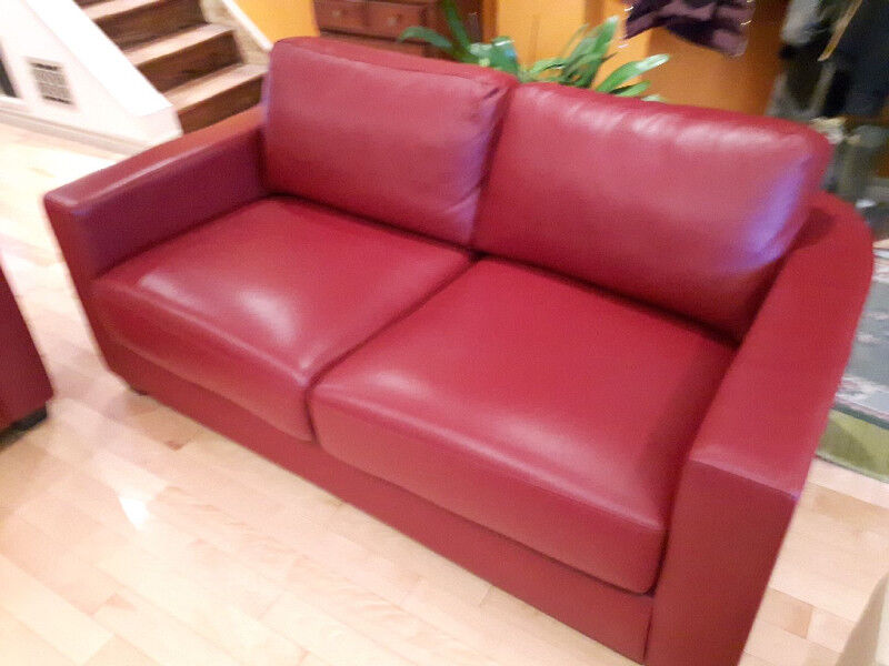 Leather loveseat and matching chairs   Couches & Futons   City of ...