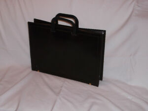 12 x 17 x 2  1/4 inches  Beautiful LEATHER BRIEFCASE