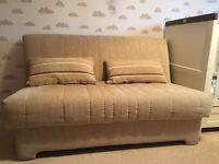 John Lewis Double Sofa Bed Cream/Oatmeal/Beige