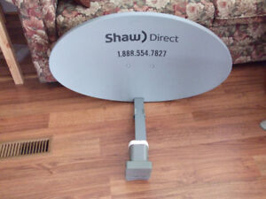 Shaw Direct Digital Satellite TV HDPVR with dish.