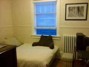 Central, clean and quiet room available January 1st.